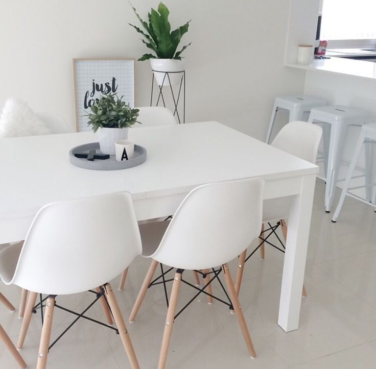 Kmart Dining Chairs With A White Table