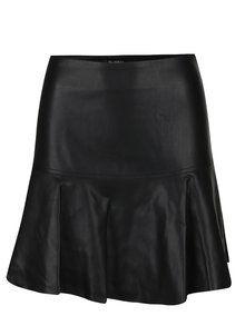 Obrázek Černá koženková áčková sukně Miss Selfridge
