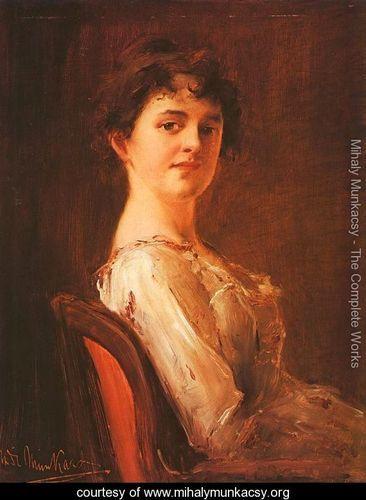 Portrait of a Woman (Noi arckep)  1885 - Mihaly Munkacsy - www.mihalymunkacsy.org