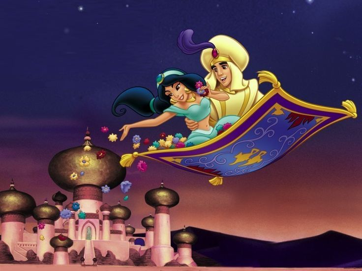 write about a magic carpet ride aladdin