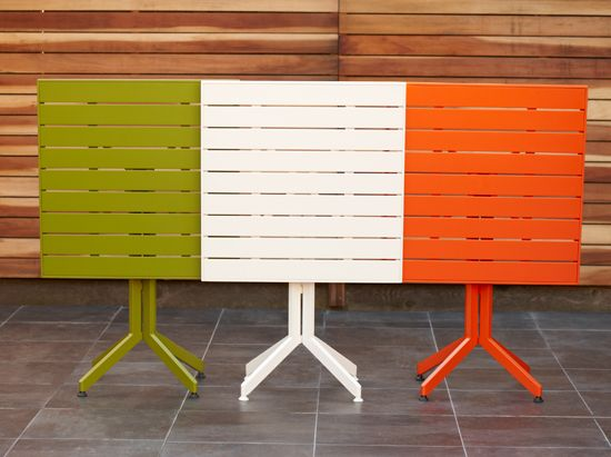 Modern For Your Outdoor Gatherings, Scandinavian Designs Alohaa Square Folding  Table In 3 Vibrant Colors