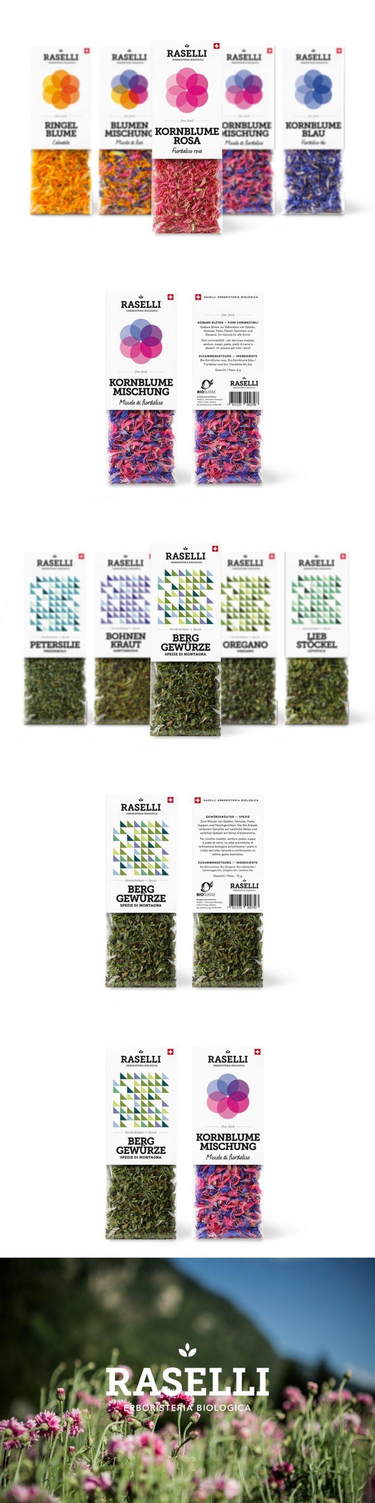 Raselli Organic Herbs & Blossoms — The Dieline   Packaging & Branding Design & Innovation News