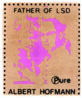 Albert Hofmann LSD Blotter Art from the Blotter Barn