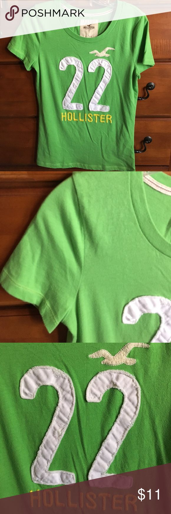 Neon Green Hollister Shirt Super cute..summer ready..put on favorite shorts & converse or sandals!! Hollister Tops Tees - Short Sleeve