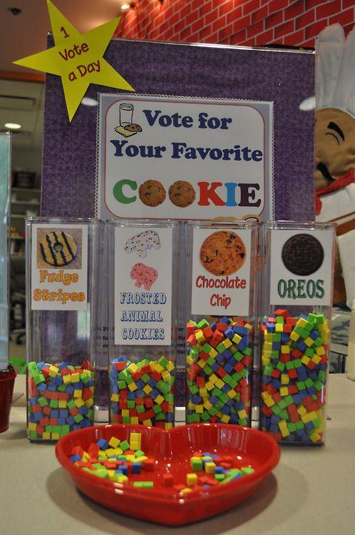 would be a cute idea for an interactive cookie booth next spring! @Rhonda Alp Alp Alp Meyer