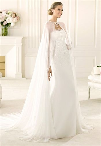 Wedding Dress. love the cape