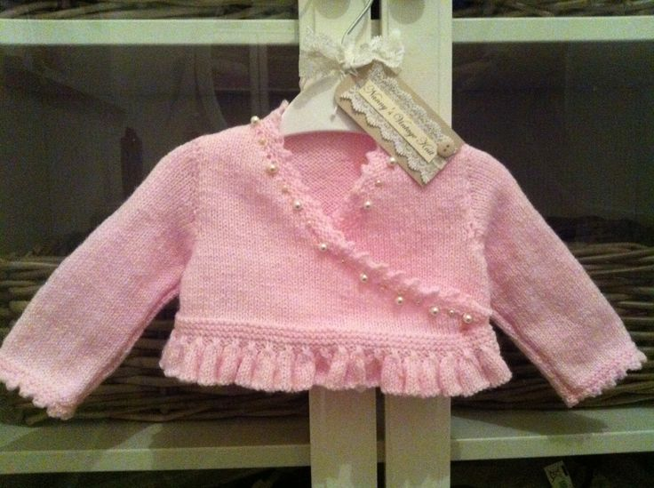 Gorgeous handmade ballerina style cardigan 0-6 months 6-12 months 1-2 years 2-3 years £12 on Nanny's Vintage Knit at Etsy