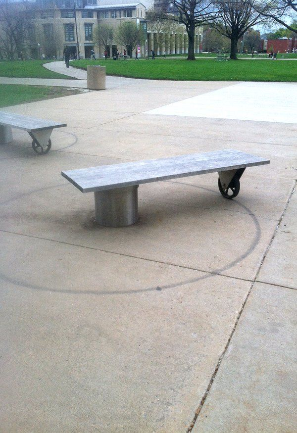 Rotating bench, Carnegie Mellon University, Pittsburgh. Click image to tweet and visit the Slow Ottawa boards >> https://www.pinterest.com/slowottawa/