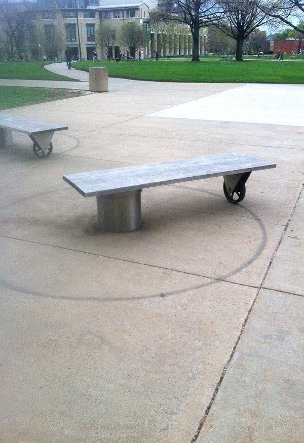 Rotating bench, Carnegie Mellon University, Pittsburgh. Click image to tweet and visit the Slow Ottawa boards >> https://www.pinterest.com/slowottawa/