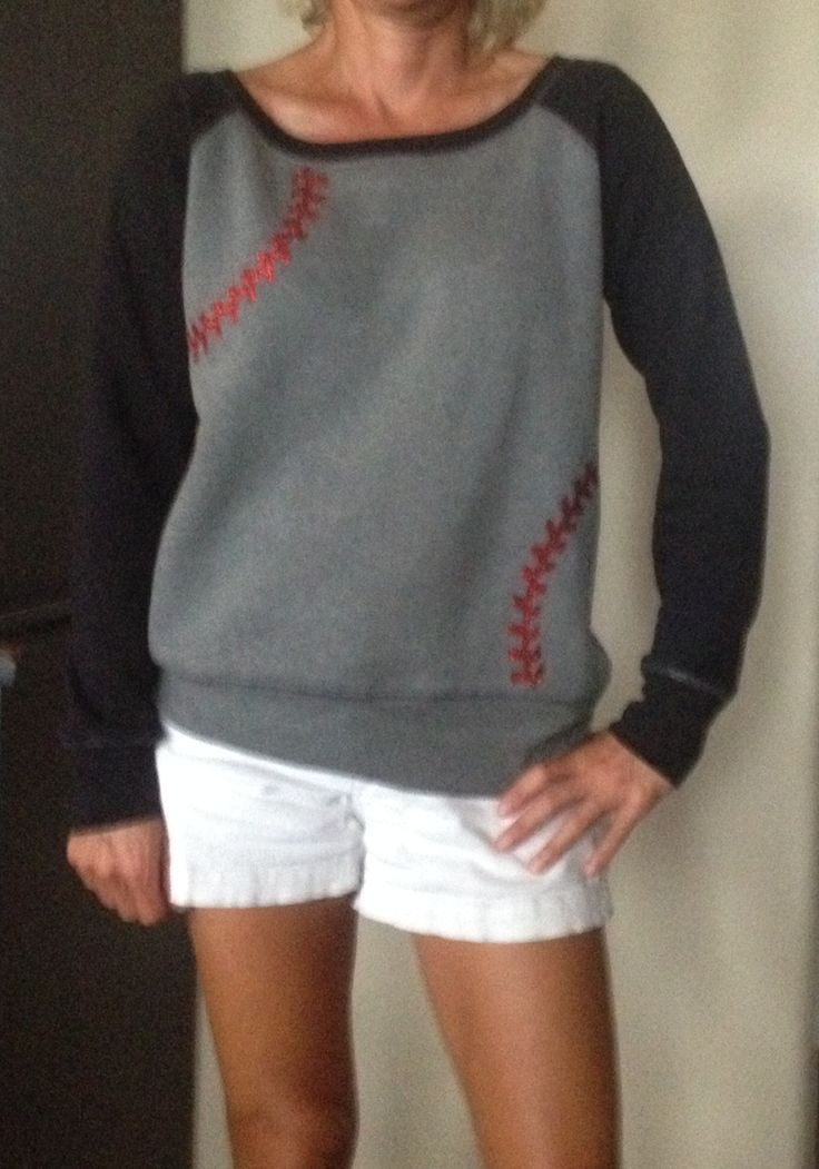 Baseball Seams wide neck fleece, ladies sizes order up! Click this link to order http://baseballalley.net/baseball-seams-raglan-fleece/