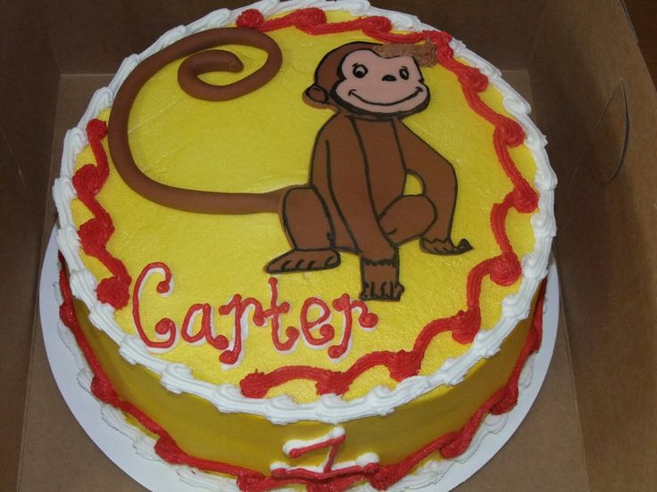61 best buscochos y giovanes frosteados images on for Curious george cake template