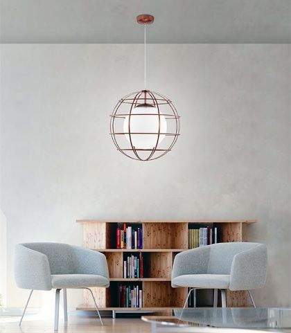Kourtakis Lighting - Μονόφωτο #μοντερνο #κρεμαστο από μέταλλο και opal γυαλί. Μπορείτε να το βρείτε σε τρία χρώματα-ροζ χρυσό, μαύρο ματ και χρώμιο- και επιλέξτε ποιο χώρο σας θέλετε να διακοσμήσει. Για μεγαλύτερη οικονομία στην κατανάλωση ενέργειας προτείνουμε να επιλέξετε λαμπτήρες #LED: http://kourtakis-lighting.gr/35-lamptires-led-E27