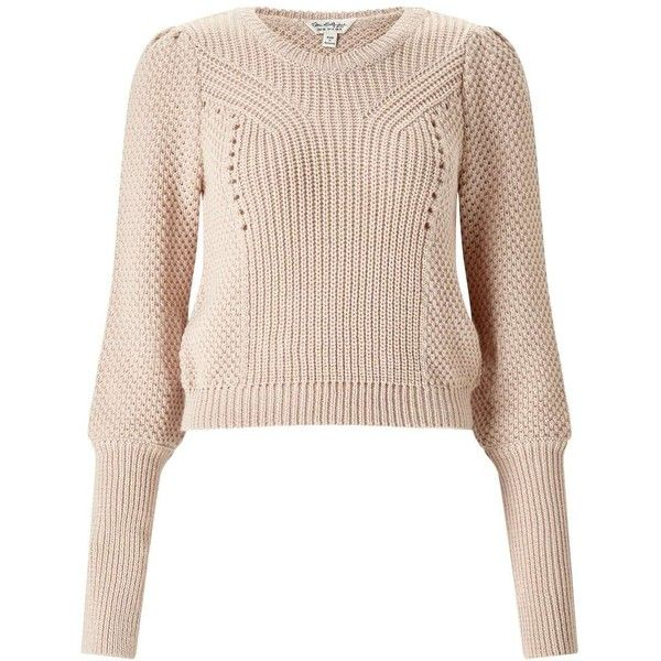Miss Selfridge Camel Deep Cuff Jumper ($43) ❤ liked on Polyvore featuring tops, sweaters, camel, camel sweater, jumpers sweaters, camel top, camel crew neck sweater and crew-neck sweaters