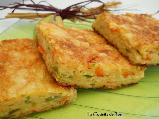 Bizcocho de verduras ,atún y queso