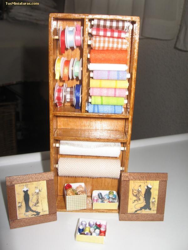 Mueble para taller de costura en miniatura en mi for Mueble organizador de costura