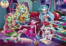 Juegos Monster High - Fiesta de Pijamas - Jugar Gratis Online