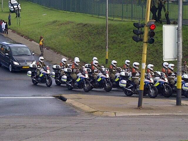 Nelson Mandela's procession to the Union Buildings in Pretoria on Wednesday 11 December 2013. The former president will lie in State until Friday.