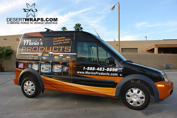 Mario's Products has been wrapped. DesertWraps.com does car wraps, van wraps, car wraps, bus wraps and more. 760-935-3600