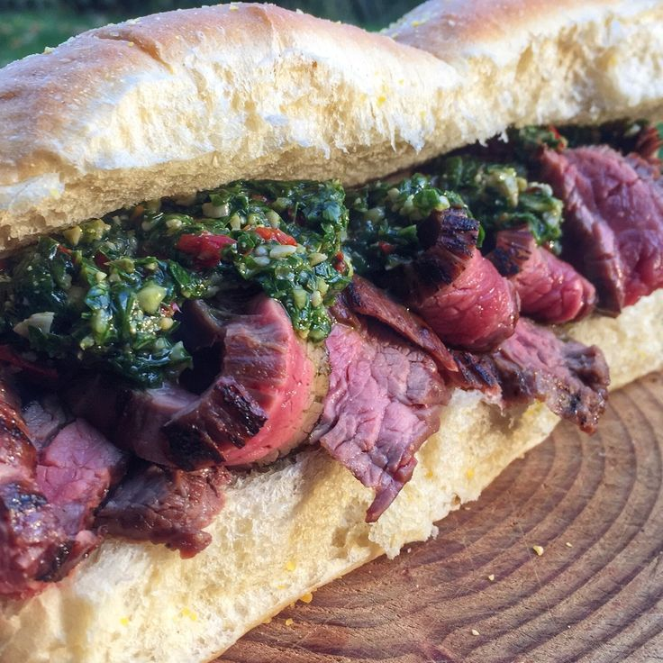 Flank Steak Sandwich Rezept - BEEFER 800 Grad - Bigmeatlove