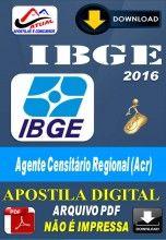 Apostila Digital Concurso IBGE Agente Censitario Regional ACR 2016
