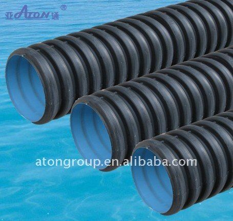 Corrugated HDPE perforated drainage pipe