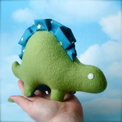 If dinosaur chicken nuggets appeal to small children, imagine how much more a stuffed dino toy would amuse them!