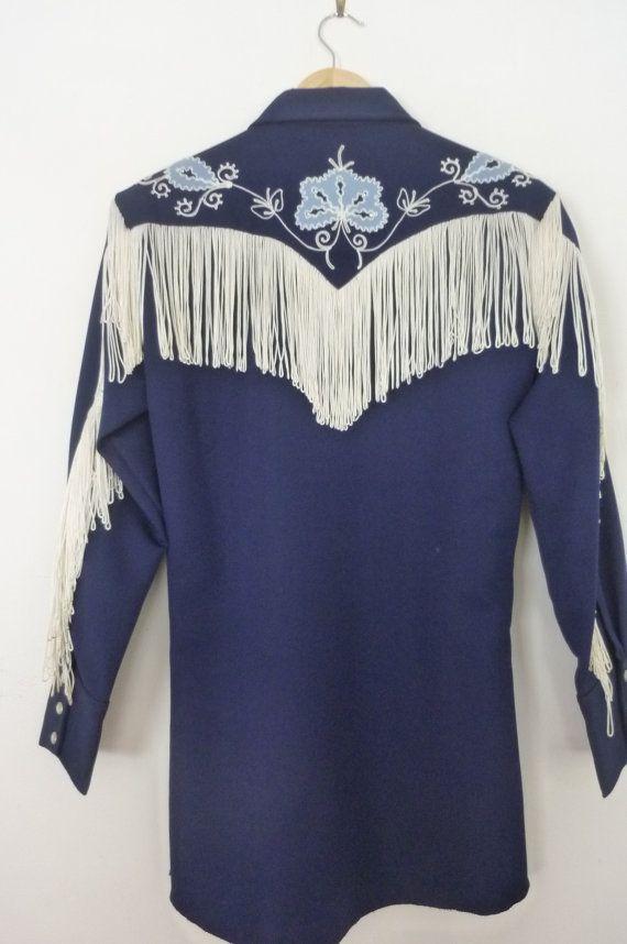 Vintage h bar c women 39 s cowboy shirt rodeo dress shirt for Ranch dress n rodeo shirts