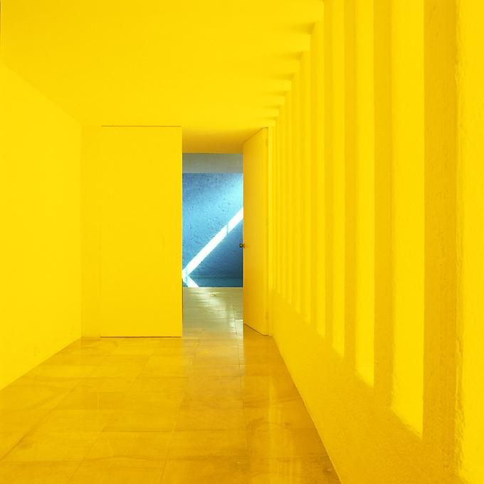 Architect: Luis Barragan Mexico City, colour