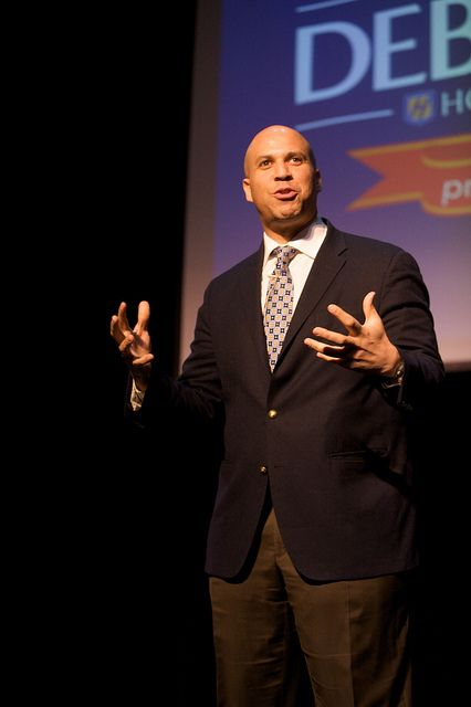 Newark Mayor Cory Booker was the keynote speaker for Hofstra's annual P.R.I.D.E. week, extolling the value of community service, leadership and individual empowerment in an address that also kicked off the university's Debate 2012- Pride, Politics & Policy program.
