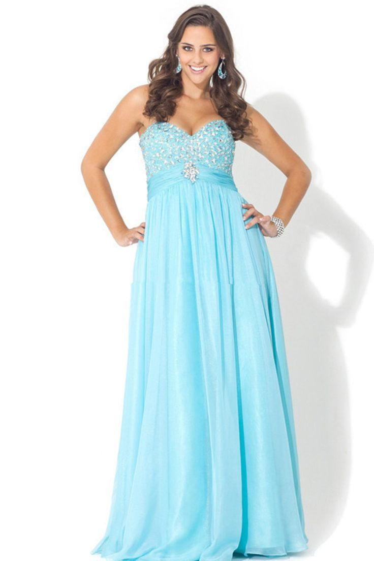 Poly USA 6440 Plus Size Prom Dress. Full length gown with jewels al ...