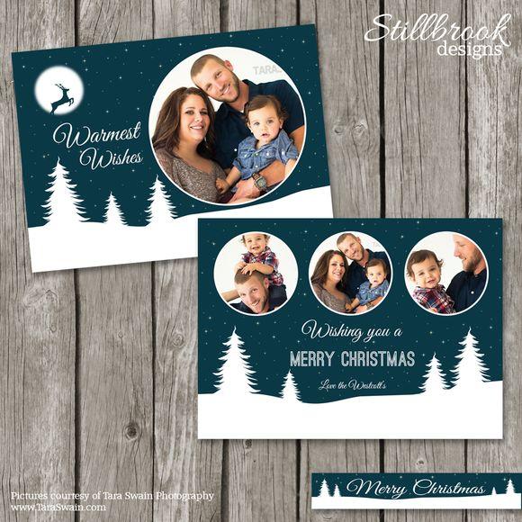 Christmas Card Photo Template by Stillbrook Designs on Creative Market