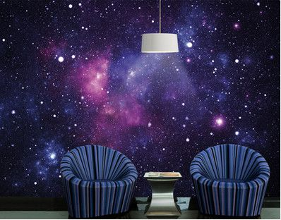Galaxy print wallpaper Wall wallpaper, Wall murals
