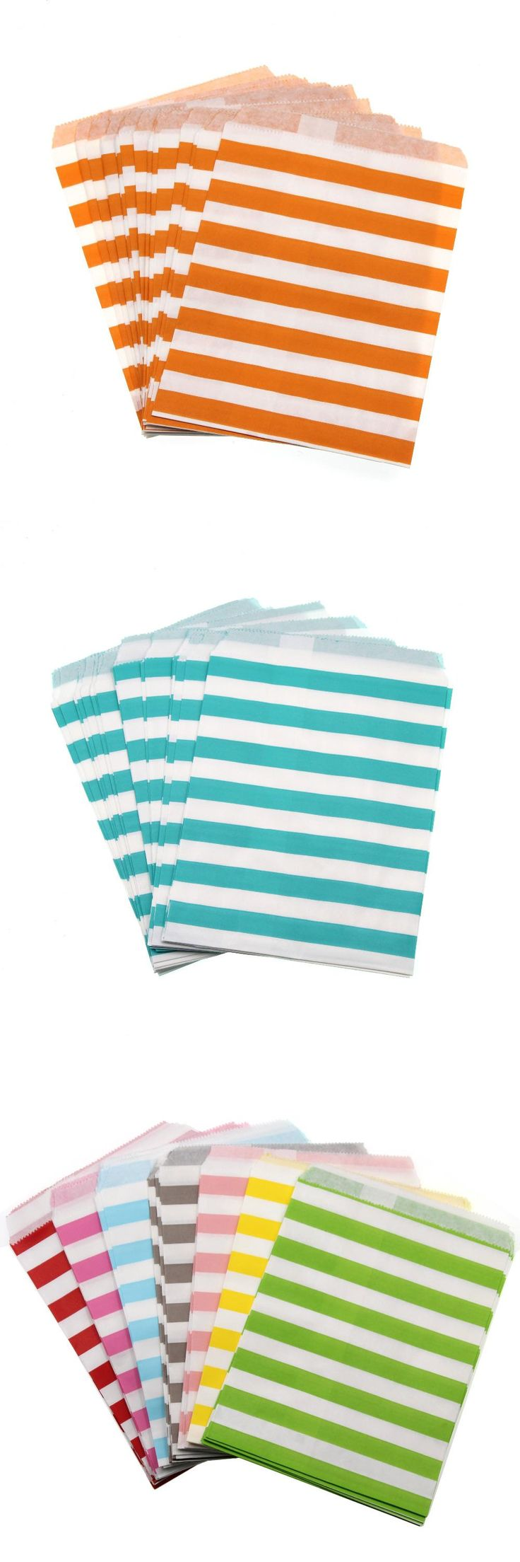 25pcs candy stripe paper bag Wedding Party Favor Candy Gift Bags Food Packaging wedding supplies