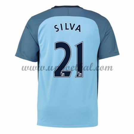 Manchester City 2016-17 Silva 21 Thuis Tenue Goedkope Voetbalshirts Clubs
