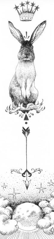 Black rabbit ou premier encrage   #lapin tatouage # rabbit tattoo