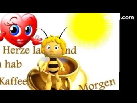 Guten Morgen☕Ein Knuddelbussi und Kaffee für dich❤️Hab dich lieb❤️Biene Maja, Zoobe - YouTube