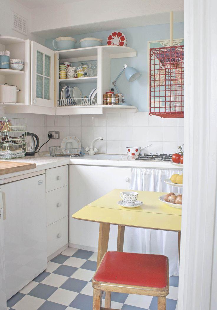 vintage-keittiö, vanha koti