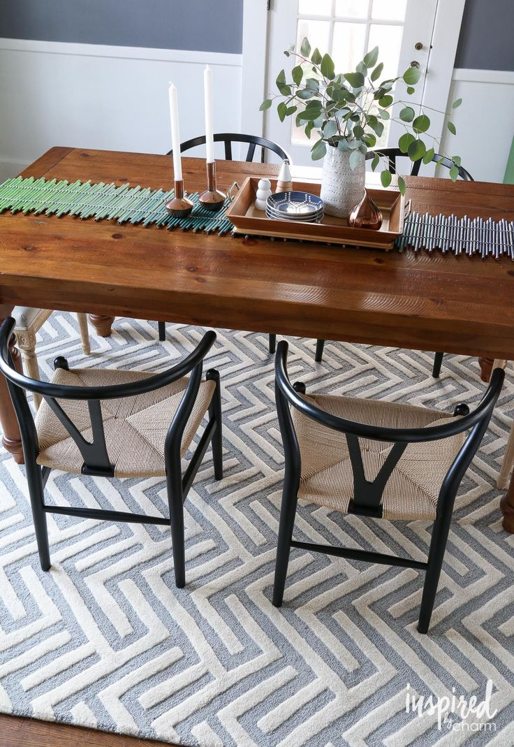 best 25 rug under dining table ideas on pinterest living room decorating ideas house decor shop and white living room furniture - Rug Dining Room