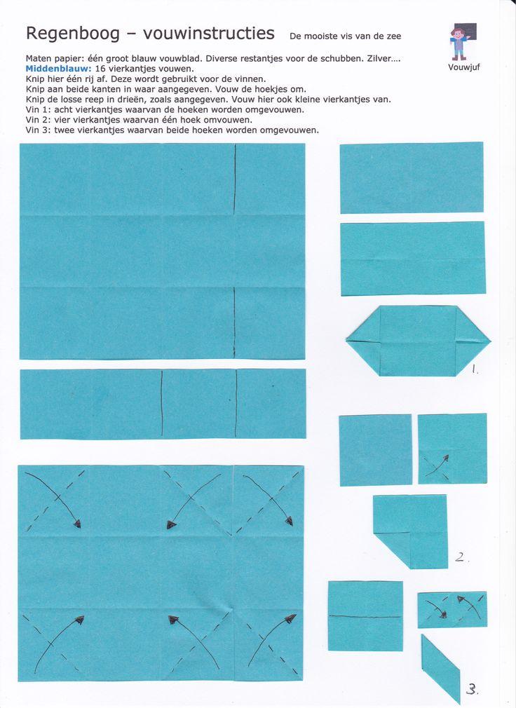 Regenboog - vouwinstructies