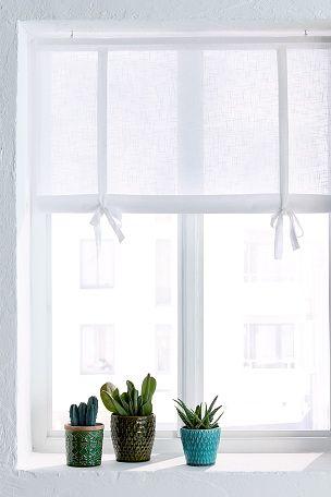 Ellos Home Roll up-gardin Solid Vit, Beige, Ljus turkos, Grå, Ljusrosa - Hissgardiner | Ellos Mobile