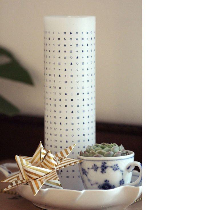 Kalenderlys fra Skandinavisk, Royal Copenhagen, kalenderlys musselmalet, Ferm Living, cathrine nissen, Rockpaperdresses