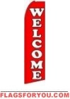 Welcome (Red) Feather Flag 2.5' x 11.5'