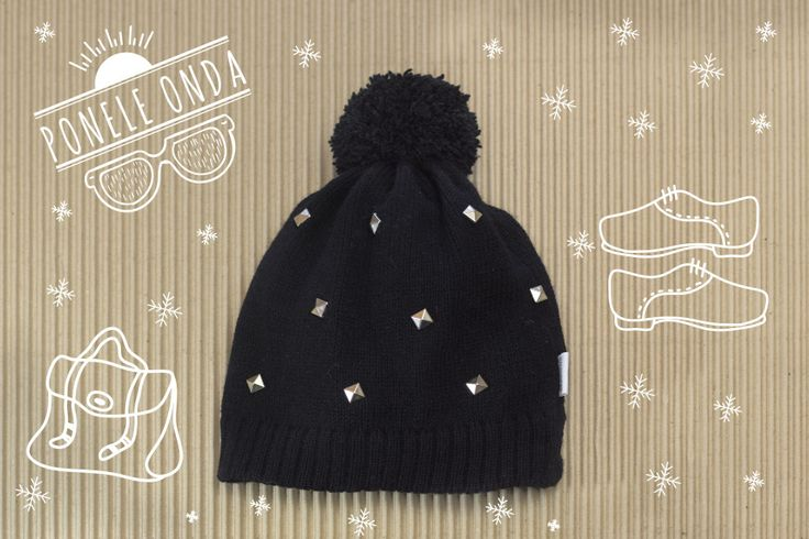tachas #maquis #gorro #negro #black #hat #tachas #fw16 #lana #knitt