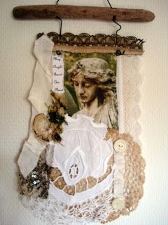 Fabric collage by Den Lille Lade: IN REMEMBRANCE OF SEPTEMBER ELEVEN !