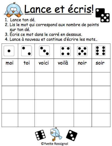 "Jeux de Mots (Le son ""oi"") Ateliers, No Prep, French Phonics, French immersion)"