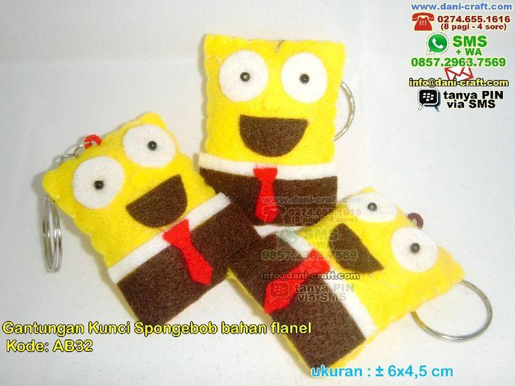 Gantungan Kunci Spongebob Bahan Flanel WA/SMS/Telp 089630123779, 085729637569 Pin BBM 5E9C1BC6 #GantunganKunci #DistributorKunci #contohundanganPernikahan #undanganPernikahan