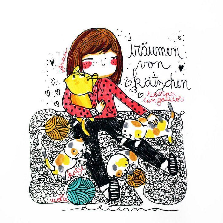 https://flic.kr/p/CXWKvx | Träumen mit Kätzchen | - soñar con gatitos  por que desde que llegue a alemania, no he visto ni un solo gatito, con suerte acariciar perros, con suerte.