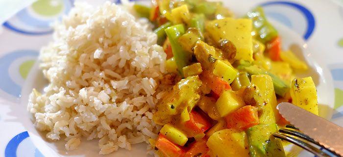 Een lekker pittige kip kerrie met rijst