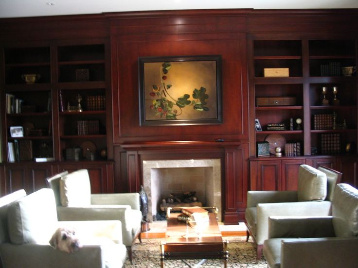 Built-in living room cabinetry