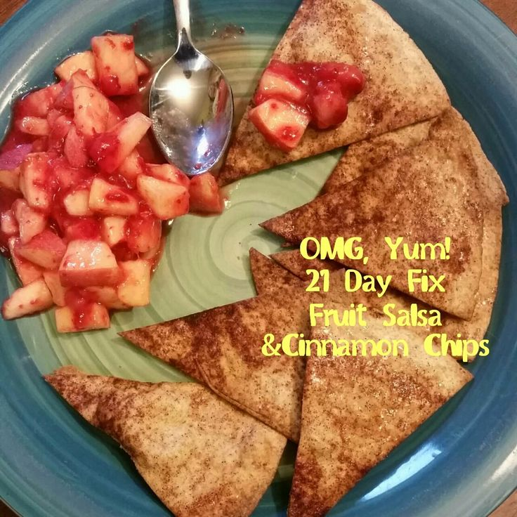 Fit Mama A: 21 Day Fix Fruit Salsa & Cinnamon Chips